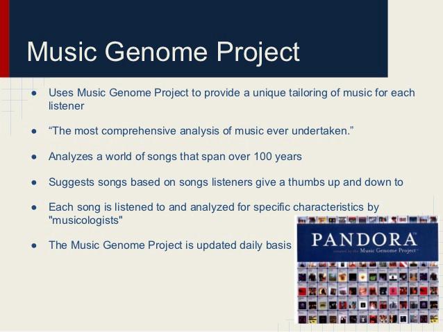music genome project pandora data science